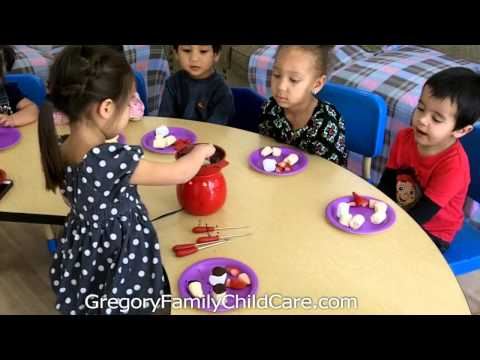 Children Enjoy National Chocolate Fondue Day