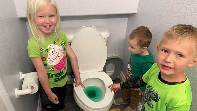 Who Peed Green in the Toilet?
