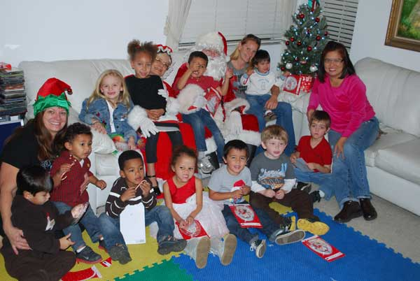 Santa & Mrs Claus Visit Gregory Family Child Care