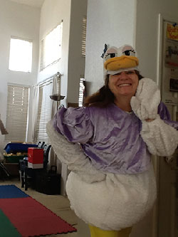 Children Took Pics of Teacher-Mary-in-Duck-Costume