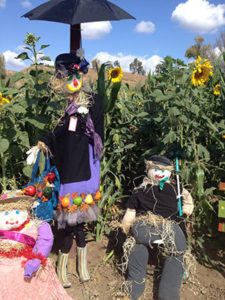 Mary Croppins and Bert Scarecrows