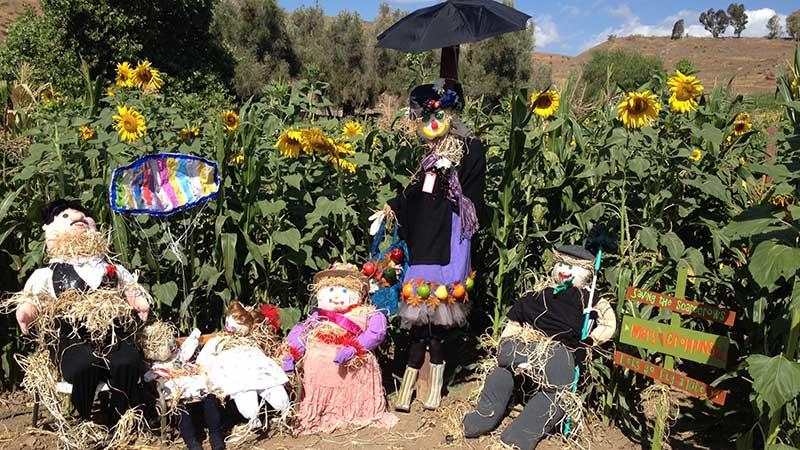 Scarecrows Crafted by Marys Schoolhouse