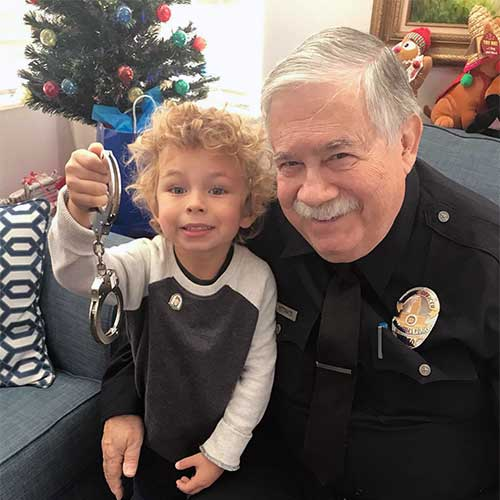 Policeman Visits Gregory Family Child Care