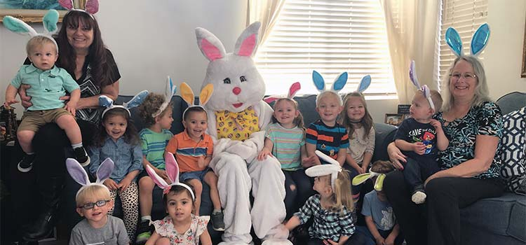 Easter Bunny at Mary's Schoolhouse