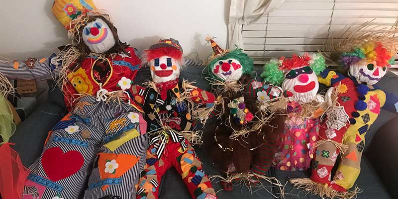 Contest Winning Scarecrows at Marys Schoolhouse