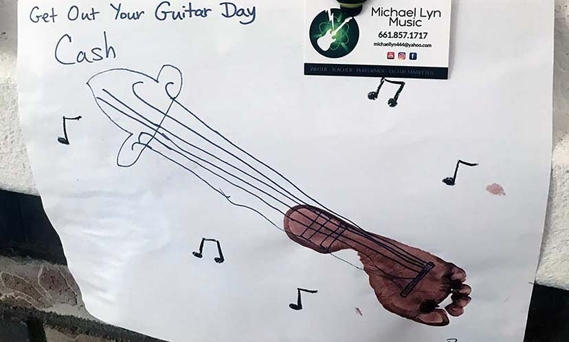 Guitar Art at Mary's School House