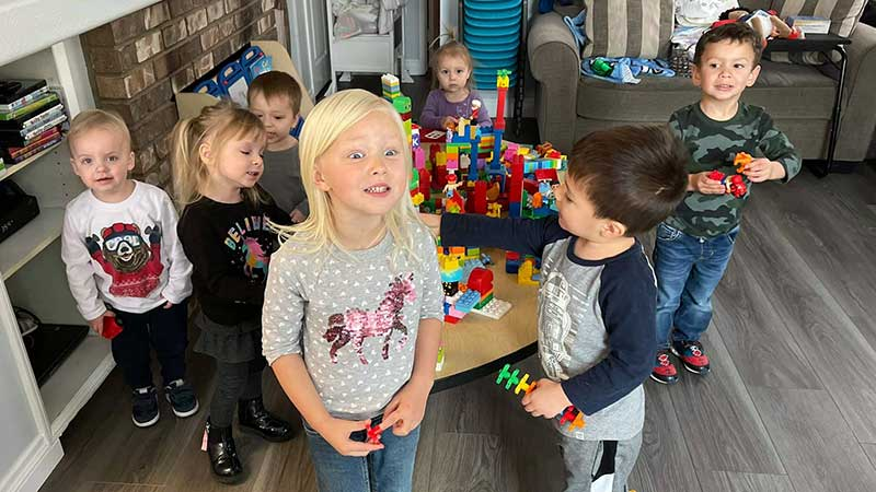 Cailey Leads Lego Kids