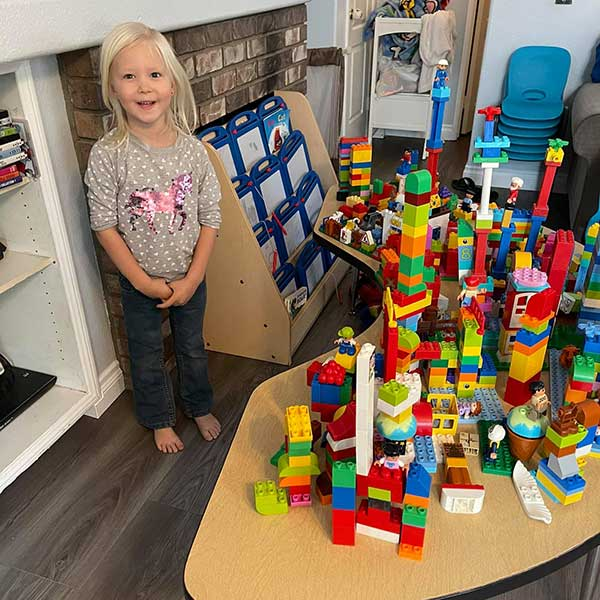 Cailey was the Lego Project Manager