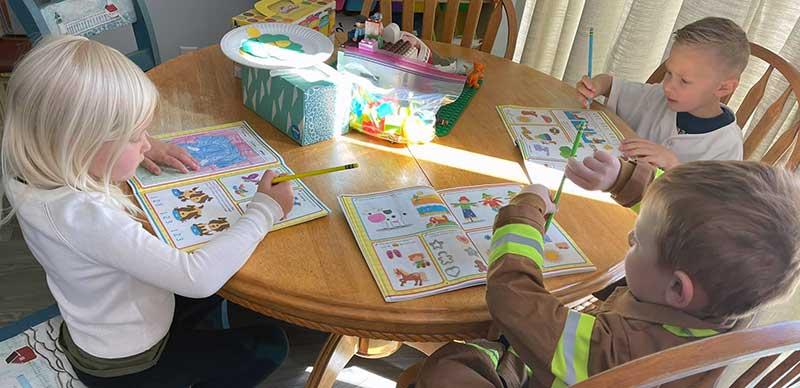 Children Learning Academic Skills