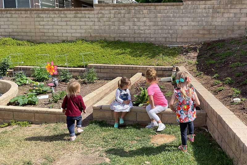 Children Working on New Vegetable Garden