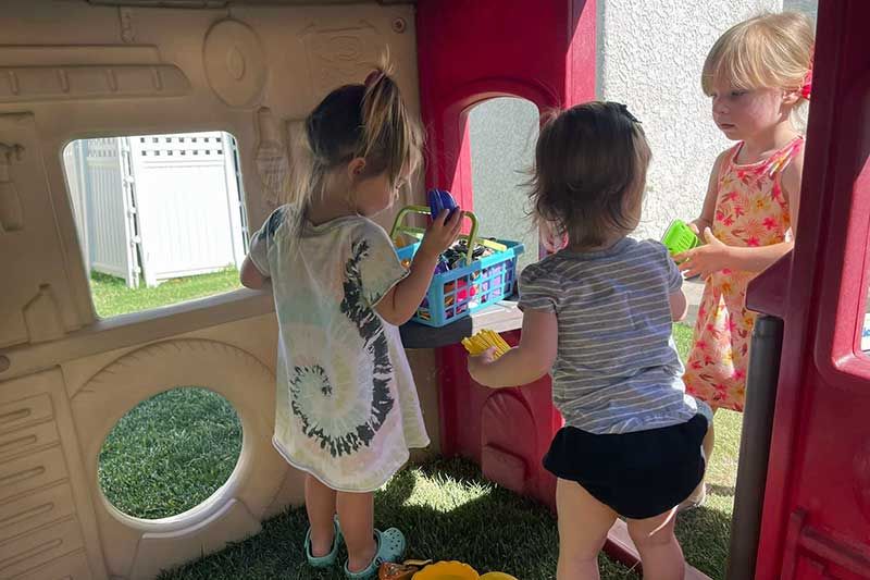 Girls Playing House