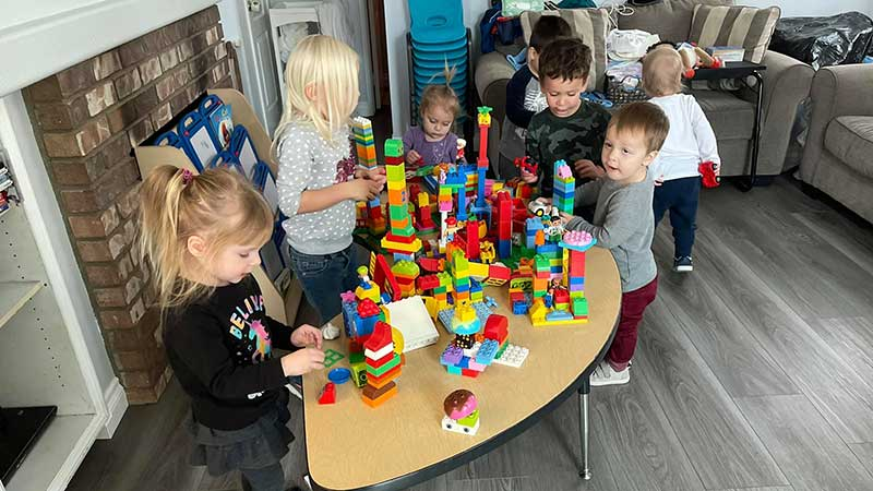 Kids Building Lego City