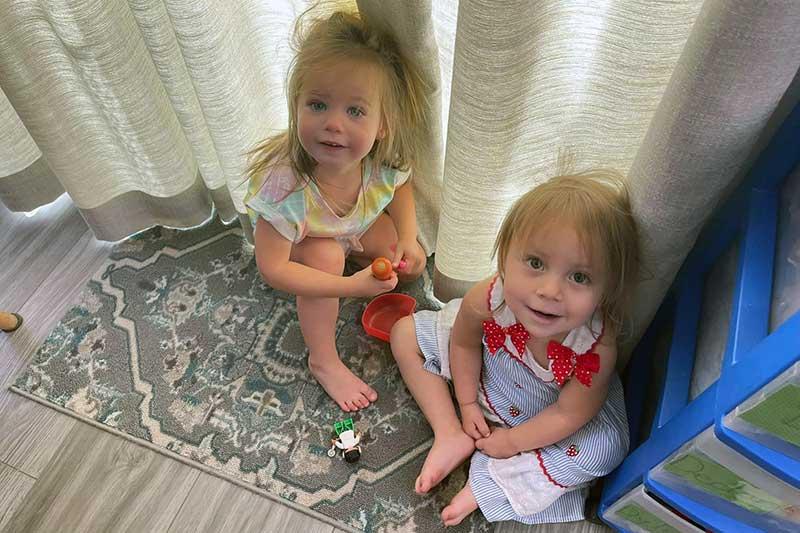Lily and Ella At Play