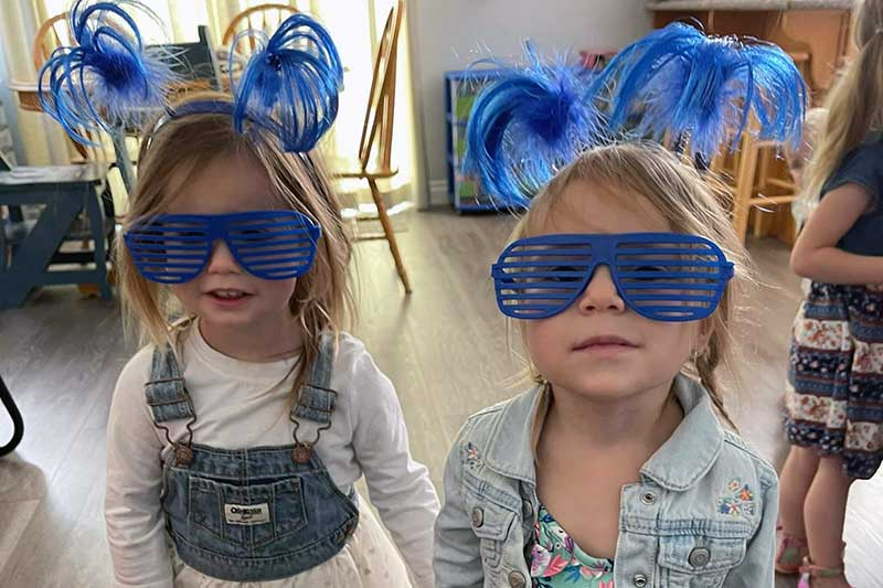 Lily and Ella Blue Glasses