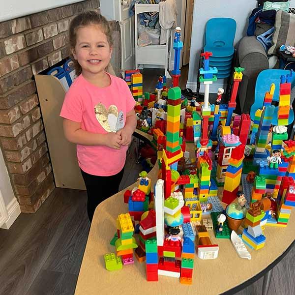 Raelynn Building Legos